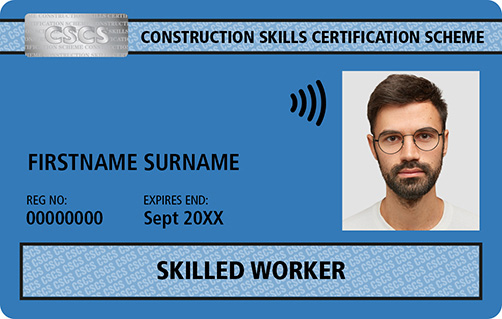 Blue CSCS Card Skilled Worker