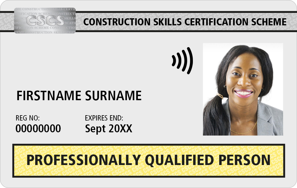 PQP CSCS Card Professionally Qualified Person
