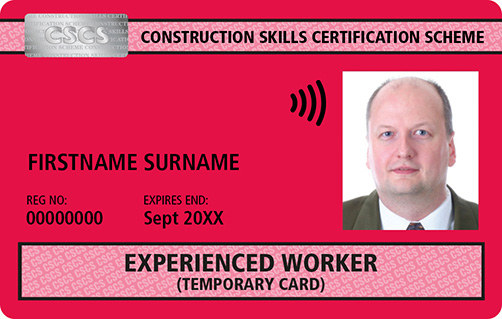 Red CSCS Card Experienced Worker