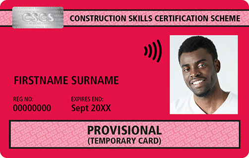 Red CSCS Card Provisional