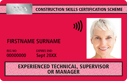 Red CSCS Card Technical Supervisor Manager