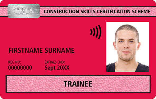 Red CSCS Card Trainee